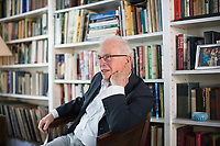 "Charles S. Maier is the Leverett Saltonstall Professor of History at Harvard University, seen here at his home in Cambridge, Massachusetts, USA, on Wed., June 28, 2017. He is the author of many books, including 2016's ""Once Within Borders: Territories of Power, Wealth, and Belonging since 1500."""