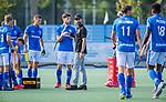 UTRECHT - coach Alexander Cox (Kampong) tijdens de rust van een kwart   tijdens de hoofdklasse competitiewedstrijd mannen, Kampong-Bloemendaal (2-2) . ) . COPYRIGHT KOEN SUYK
