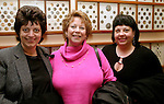 WATERBURY, CT- 03 FEBRUARY 2005-020305JS14--Annette Tedesco of Waterbury; Marcia Manzolli of Waterbury and Rosemary Cicchiello of Waterbury at the Mattatuck Museum's First Thursday.  -- Jim Shannon Photo--Annette Tedesco; Marcia Manzolli; Rosemary Cicchiello Mattatuck Museum's First Thursday are CQ