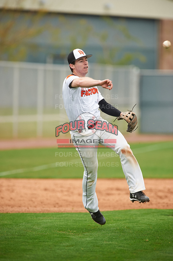 Tyler Cornish (11) of Timpanogos High School in Orem, Utah during the Under Armour All-American Pre-Season Tournament presented by Baseball Factory on January 15, 2017 at Sloan Park in Mesa, Arizona.  (Zac Lucy/MJP/Four Seam Images)