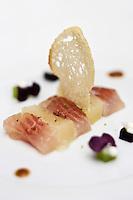 Europe/France/Rhône-Alpes/74/Haute-Savoie/Annecy: Fera fumée, recette d' Eric Prowalski. chef de l'Hôtel-Restaurant: Les Trésoms