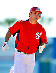 7 March 2011: Washington Nationals' third baseman Ryan Zimmerman in action during a Spring Training game against the Houston Astros at Space Coast Stadium in Viera, Florida. The Nationals defeated the Astros 14-9 in Grapefruit League action. Mandatory Credit: Ed Wolfstein Photo