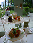Afternoon tea in the author's lounge inThe Oriental Hotel in Bangkok, Thailand