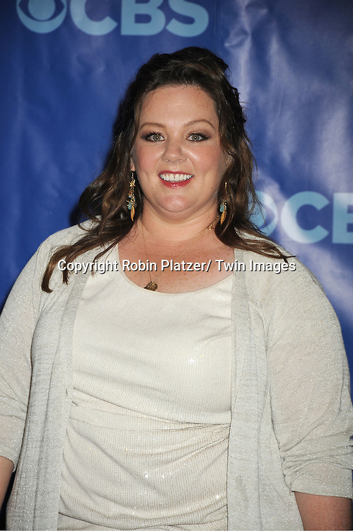Melissa McCarthy attending The CBS Upfront announcement of the Prime Time 2011-2012 Season on May 18, 2011 at Damrosch Park in  Lincoln Center in New York City.