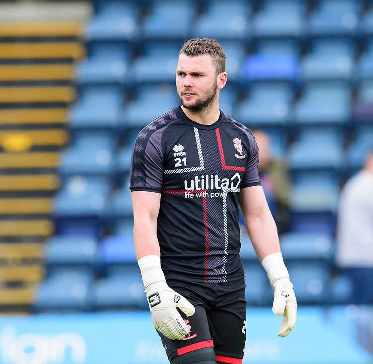 Lincoln City's Grant Smith during the pre-match warm-up<br /> <br /> Photographer Andrew Vaughan/CameraSport<br /> <br /> The EFL Sky Bet League One - Wycombe Wanderers v Lincoln City - Saturday 7th September 2019 - Adams Park - Wycombe<br /> <br /> World Copyright © 2019 CameraSport. All rights reserved. 43 Linden Ave. Countesthorpe. Leicester. England. LE8 5PG - Tel: +44 (0) 116 277 4147 - admin@camerasport.com - www.camerasport.com