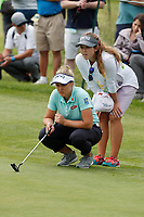 Brooke Henderson (CAN) lines up a putt on the third hole during the final round of the ShopRite LPGA Classic presented by Acer, Seaview Bay Club, Galloway, New Jersey, USA. 6/10/18.<br /> Picture: Golffile   Brian Spurlock<br /> <br /> <br /> All photo usage must carry mandatory copyright credit (&copy; Golffile   Brian Spurlock)