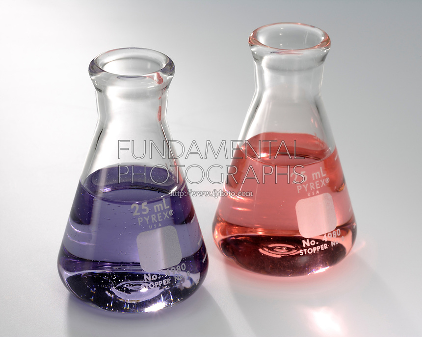 COBALT CHLORIDE: CHEMICAL EQUILIBRIUM<br /> Solutions of Blue CoCl4 & Pink Co(H2O)6<br /> If chloride concentration is low, the equilibrium lies to the right and the solution is pink. With excess chloride, the equilibrium tends to the left- the solution tends to be blue.