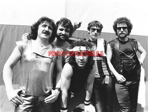 Blue Oyster Cult 1981 Donald Buck Dharma Roeser, Joe Bouchard, Albert Bouchard, Allan Lanier and Eric Bloom