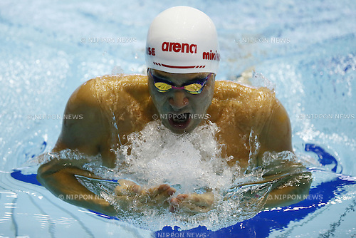 Ryo Tateishi,<br /> APRIL 13, 2014 - Swimming : <br /> JAPAN SWIM 2014 <br /> Men's 200m Breaststroke<br /> at Tatsumi International Swimming Pool, Tokyo, Japan. <br /> (Photo by AFLO SPORT)