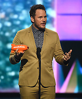 "LOS ANGELES - MARCH 23: Chris Pratt appears on the Nickelodeon ""Kids' Choice Awards 2019"" at the Galen Center on March 23, 2019 in Los Angeles, California. (Photo by Frank Micelotta/PictureGroup)"