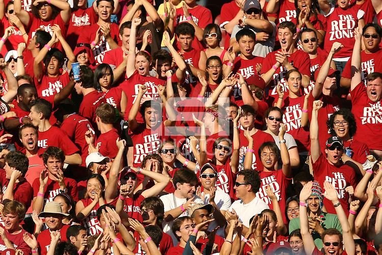 13 October 2007: Fans in the Red Zone student section during Stanford's 38-36 loss to TCU at Stanford Stadium in Stanford, CA.