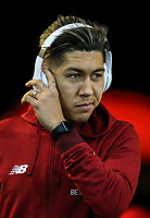 Roberto Firmino of Liverpool arrives ahead of the Premier League match between Swansea City and Liverpool at the Liberty Stadium, Swansea, Wales on 22 January 2018. Photo by Mark Hawkins / PRiME Media Images.