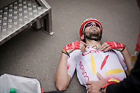 Luis Ángel Maté (ESP/Cofidis) gave it his all up the Mur de Huy<br /> <br /> 83rd La Flèche Wallonne 2019 (1.UWT)<br /> One day race from Ans to Mur de Huy (BEL/195km)<br /> <br /> ©kramon