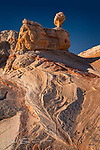 Chicken Rock, White Pocket, Arizona ©2017 James D Peterson.  This formation, in Arizona's Vermilion Cliffs National Monument, takes on the warm glow of late afternoon sunlight just before sunset.