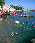 Seaside sports in summer, Liguria, Italy