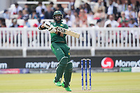 Imad Wasim (Pakistan) fends off a short delivery during Pakistan vs Bangladesh, ICC World Cup Cricket at Lord's Cricket Ground on 5th July 2019