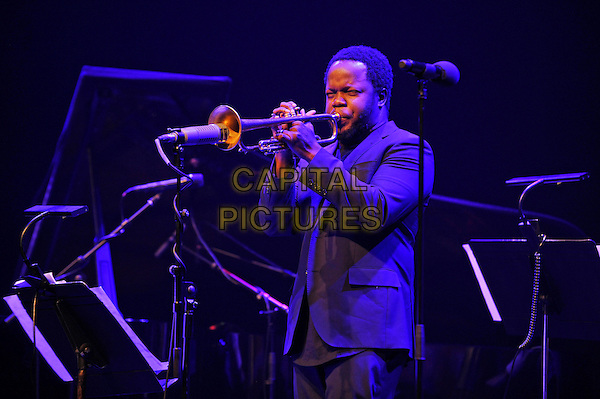 LONDON, ENGLAND - NOVEMBER 19: Ambrose Akinmusire performing at The Jazz Festival at Barbican on November 19, 2016 in London, England.<br /> CAP/MAR<br /> &copy;MAR/Capital Pictures