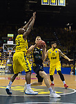 02.06.2019, EWE Arena, Oldenburg, GER, easy Credit-BBL, Playoffs, HF Spiel 1, EWE Baskets Oldenburg vs ALBA Berlin, im Bild<br /> Niels GIFFEY (ALBA Berlin #5 ) Rickey PAULDING (EWE Baskets Oldenburg #23 )<br /> <br /> Foto © nordphoto / Rojahn