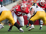 October 17, 2009: Wisconsin Badgers defensive lineman Jeff Stehle (79) during an NCAA football game against the Iowa Hawkeyes at Camp Randall Stadium on October 17, 2009 in Madison, Wisconsin. The Hawkeyes won 20-10. (Photo by David Stluka)