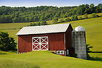 539 Mall Road. Montoursville, PA. Red Barn in summer.