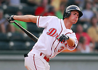 15 Aug 2007:  Josh Reddick of the Greenville Drive, Class A affiliate of the Boston Red Sox, in a game against the Lakewood Blueclaws, a Philadelphia Phillies affiliate, at West End Field in Greenville, S.C. Photo by:  Tom Priddy/Four Seam Images