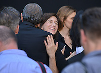 Charlotte Gainsbourg + Jeff Goldblum @ Emmerich Hand and Footprint Ceremony held @ the Chinese theatre.<br /> June 20, 2016.