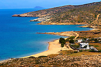 Plakes Beach on Ios, Cyclades Island Greece