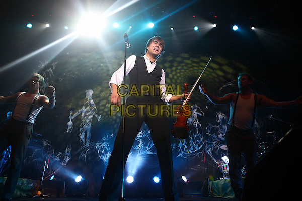Alexander Rybak.Concert in Moscow, Russia..November 28th, 2009 .on stage in concert live gig performance performing music full trousers length black waistcoat white shirt violin  .CAP/PER/SB.© SB/Persona/CapitalPictures