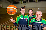 David Gleeson Gneeveguilla Basketball club who has been selected for the Irish u15 Squad with his coaches Cormac Collins and Jim Hughes