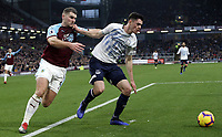 Everton's Michael Keane holds off the challenge from Burnley's Sam Vokes <br /> <br /> Photographer Rich Linley/CameraSport<br /> <br /> The Premier League - Burnley v Everton - Wednesday 26th December 2018 - Turf Moor - Burnley<br /> <br /> World Copyright &copy; 2018 CameraSport. All rights reserved. 43 Linden Ave. Countesthorpe. Leicester. England. LE8 5PG - Tel: +44 (0) 116 277 4147 - admin@camerasport.com - www.camerasport.com