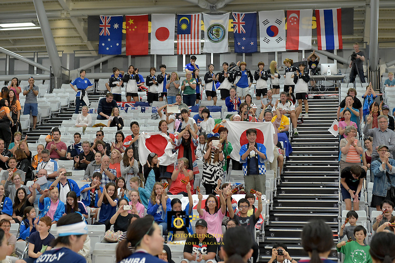 World Floorball Championships 2017 Qualification for Asia Oceania Region Final - Australia v Japan at ASB Sports Centre , Wellington, New Zealand on Sunday 5 February 2017.<br /> Photo by Masanori Udagawa<br /> www.photowellington.photoshelter.com.