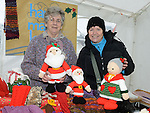 Marie Dunne and Sheila Sweeney pictured at the Christmas fair in Dunleer. Photo:Colin Bell/pressphotos.ie