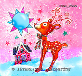 GIORDANO, CHRISTMAS ANIMALS, WEIHNACHTEN TIERE, NAVIDAD ANIMALES, paintings+++++,USGI2560,#XA# deer