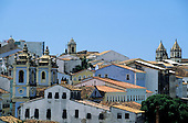 Salvador, Bahia State, Brazil. Buildings and rooftops of Pelhourino.