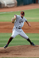 Josh Spence of the Arizona State Sun Devils playing against the Clemson Tigers in the NCAA Super Regional Tournament won by ASU at Packard Stadium, Tempe, AZ - 06/07/2009. Spence was the winning pitcher as ASU won the second and final game, 8-2..Photo by:  Bill Mitchell/Four Seam Images