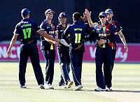 Imran Qayyum congratulated after taking the wicket of Michael Klinger during the Vitality Blast T20 game between Kent Spitfires and Gloucestershire at the St Lawrence Ground, Canterbury, on Sun Aug 5, 2018