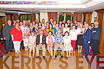 Maisie O'Sullivan, Daltons Avenue, Killarney, pictured with family and colleagues as she celebrated her retirement from Killarney UDC in the Plaza hotel, Killarney on Friday night.