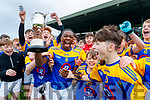 Togor Silong Captain CBS the Green lifts the cup after the Corn an Bhráthair Choilm Taft at Austin Stack Park in Tralee, Kerry.