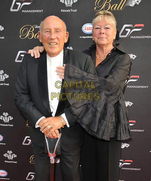 LONDON, ENGLAND - JULY 01: Sir Stirling Moss &amp;  Lady Susie Moss attend the Grand Prix Ball, The Hurlingham Club, Ranelagh Gardens, on Wednesday July 01, 2015 in London, England, UK. <br /> CAP/CAN<br /> &copy;CAN/Capital Pictures
