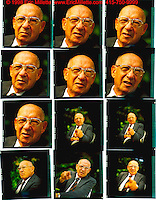 Pictures of Peter Drucker taken at his home in California