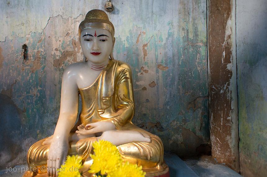 buddha shrine in Mandalay, Myanmar, 2011