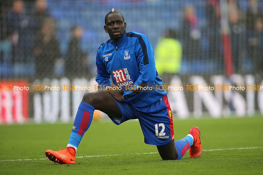 Mamadou Sakho of Crystal Palace warms up for his debut during Crystal Palace vs Middlesbrough, Premier League Football at Selhurst Park on 25th February 2017