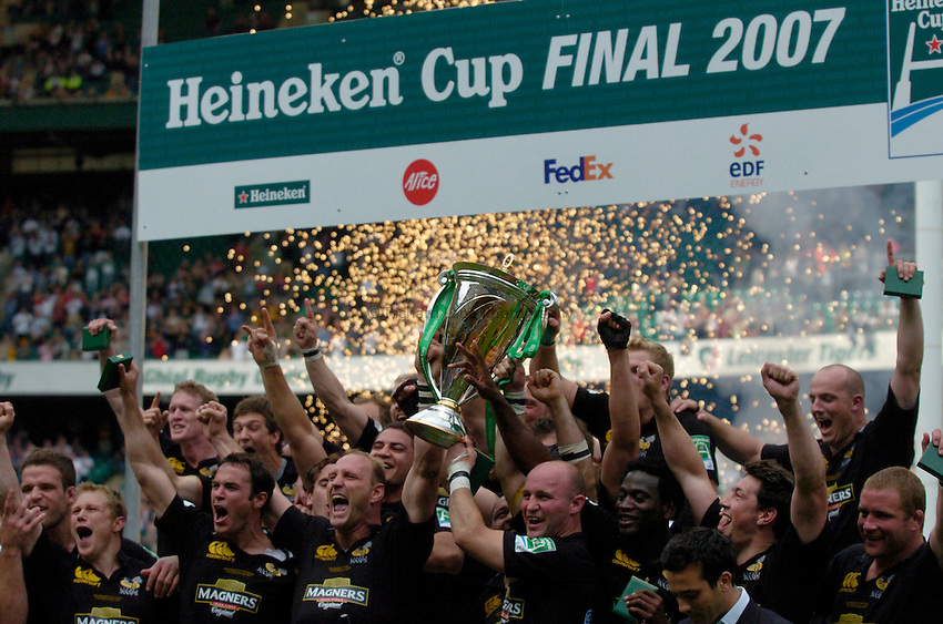 Photo: Richard Lane..London Wasps v Leicester Tigers. Heineken Cup Final. 20/05/2007..Wasps celebrate being crowned the Heineken Cup Champions.