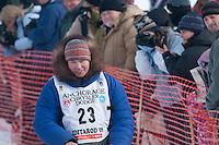 Musher # 23 Robert Nelson at the Restart of the 2009 Iditarod in Willow Alaska