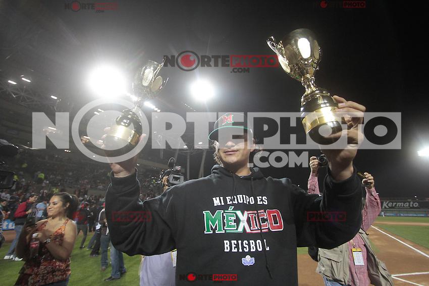 Luis Mendoza mejor pitcher. El equipo de Mexico se corono campe&oacute;n de la Serie del caribe 2013 en duelo contra Rep&uacute;blica Dominicana que duro 18 entradas en el estadio Sonora en la ciudad de Hermosillo.<br /> 7 Febrero 2013.<br /> (BaldemarDeLosLlanos/NortePhoto)
