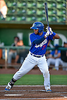 Keibert Ruiz (31) of the Ogden Raptors at bat against the Grand Junction Rockies in Pioneer League action at Lindquist Field on August 25, 2016 in Ogden, Utah. The Rockies defeated the Raptors 12-3. (Stephen Smith/Four Seam Images)