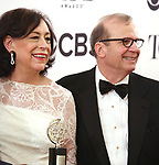 Lynne Meadow and Barry Grove poses at the 71st Annual Tony Awards, in the press room at Radio City Music Hall on June 11, 2017 in New York City.