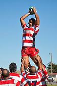 Karak lock Tautaiafua Mata'afai. Counties Manukau Premier Club Rugby game bewtween Waiuk & Karaka played at Waiuku on Saturday April 11th, 2010..Karaka won the game 24 - 22 after leading 21 - 9 at halftime.