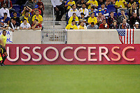 USSSC. The men's national team of the United States (USA) was defeated by Ecuador (ECU) 1-0 during an international friendly at Red Bull Arena in Harrison, NJ, on October 11, 2011.