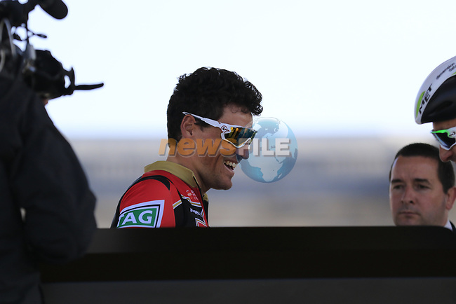 Olympic Champion Greg Van Avermaet (BEL) BMC Racing Team at sign on for the 115th edition of the Paris-Roubaix 2017 race running 257km Compiegne to Roubaix, France. 9th April 2017.<br /> Picture: Eoin Clarke | Cyclefile<br /> <br /> <br /> All photos usage must carry mandatory copyright credit (&copy; Cyclefile | Eoin Clarke)